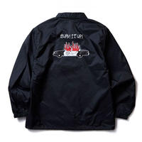 SOFTMACHINE BURN UP COACH JACKET BLACK