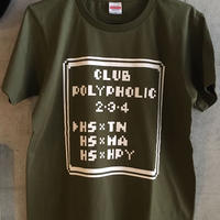 【Sサイズのみ】CLUB  POLYPHOLIC 2.3.4 Tシャツ (Olive)