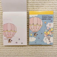 パラパラメモ  気球【なみはりねずみ】