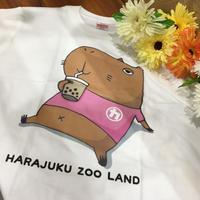 原宿かわいい動物園オリジナル☆カピバラのカピオカくんTシャツ