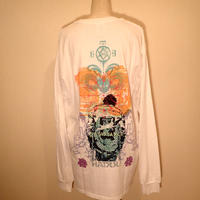 LONG   SLEEVE  T-SHIRT   WHITE   SILKSCREEN  PRINT   HADOU