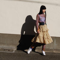 Asymmetry Ttiered skirt
