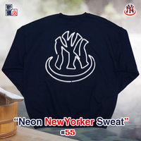 Neon NewYorker LOGO Sweat(Navy)