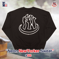 Neon NewYorker LOGO Sweat(Black)