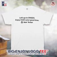 BIG ENJOY LOGO S/S TEE - white-
