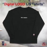 デジタルロゴ L/S Tshirts(NEW YORKER)