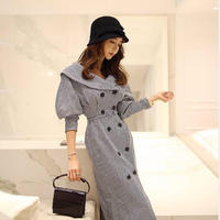gingam check  coat onepiece