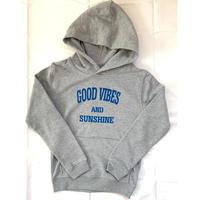 Kids: GoodVibes & Sunshine Hoodie Gray