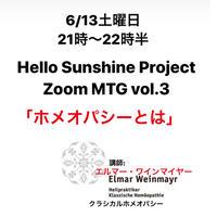 6/13 21時Hello Sunshine Project Zoom MTG vol.3 ホメオパシーとは
