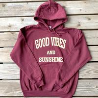 Good Vibes and Sunshine Hoodie Maroon