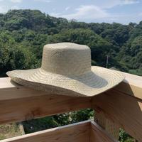 Bali島手編み天然草 網代編みハット