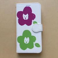 新年福々SALE/iPhone 11pro ワン コーラス ホワイト手帳型スマホケース