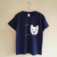 インディゴ/ウェスティ-シルクスクリーンprint-Tシャツ・限定数
