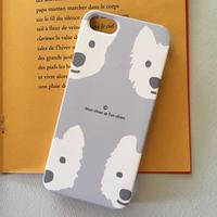 スマホケース 白ワンコLightGray- for iPhone 側面印刷