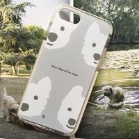 白ワンコ・白クッションバンパーケースLightGray-for iPhone