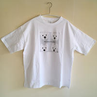 ゆったりシルエットTシャツ-白ワンコベーシック