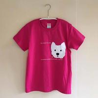 トロピカルピンク/ウェスティ-シルクスクリーン-Tシャツ・限定数