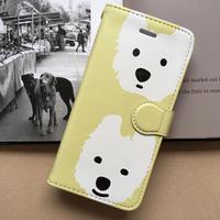 白ワンコ  手帳型iPhone  ハイクオリティタイプ 5色
