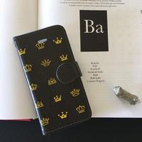 手帳型スマホケース-プリンセスプリンスBlack