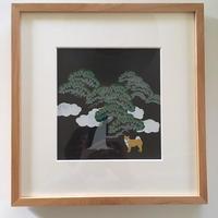 松の木の下で 柴 Sélectionné pour l'exposition d'art à Paris