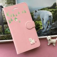手帳型スマホケース  モンシアン Pink