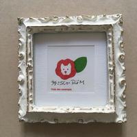 個展限定 セリグラフィ作品ミニ『山茶花』