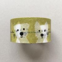 白ワンコ2人 マスキングテープ20mm巾
