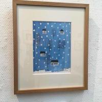 セリグラフ版画作品「ブルーの雪」