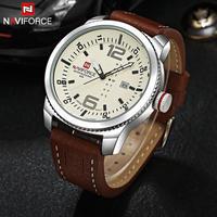 Naviforce ブランド腕時計 メンズクォーツスポーツ腕時計 防水 ミリタリー腕時計