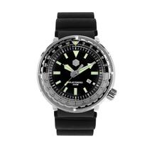 San Martin ツナ缶 クォーツ腕時計  メンズ  300m防水 48mm ステンレス/ラバーバンド