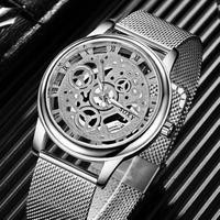 Soxy 高級スケルトン腕時計 男性腕時計ファッション腕時計