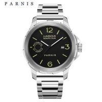 Parnis(パーニス ) 自動機械式時計 44mm サファイアクリスタル  ルミナスハンズ メンズ/シルバー