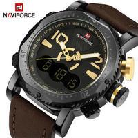 Naviforce 高級ブランド 男性スポーツミリタリー腕時計 メンズスポーツクォーツアナログデジタル腕時計