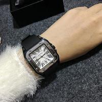 GUOU 高級カジュアルウォッチ スクエア文字盤 ラバーストラップ腕時計 レディースウォッチ ジュエリーウォッチ / カルティエ エルメス お好きな方に1013