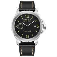 Parnis(パーニス ) 自動機械式時計 44mm サファイアクリスタル  ルミナスハンズ メンズ/シルバー×ブラック