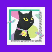 RETRO CAT PRINT
