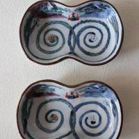 稲葉カヨ ひょうたん型小皿 グルグル龍