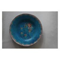 稲積佳谷 フリル中皿 ブルー