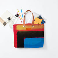 byGaku「Double Square Blue Red」|Wall Art Tote Bag
