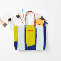 byGaku「Blue Yellow White Stripe」|Wall Art Tote Bag