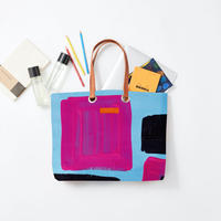 byGaku「Monster Square Purple」|Wall Art Tote Bag