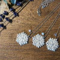 ~Yuki~ Tin Aroma Style Pendant+Natural Stone (~雪~ 錫のアロマスタイルペンダント+天然石 )