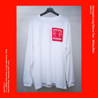 Herheads Long Sleeve Tee - White/Red (XL Size Only)