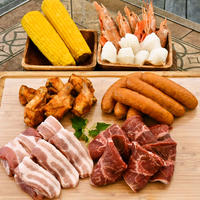 【ベーシックBBQアソート☆ボリュームパック】牛・豚・鶏・ソーセージ・シーフードがオールインワン☆全7品