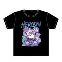 HEROSYN×HYPERCOREコラボTシャツ ヒロシンver.(ブラック)