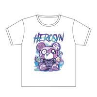 HEROSYN×HYPERCOREコラボTシャツ ヒロシンver.(ホワイト)