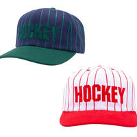 HOCKEY STRIPED 5PANEL SNAPBACK CAP