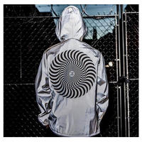 SPITFIRE CLASSIC SWIRL HI VIS REFLECTIVE HOODED JACKET