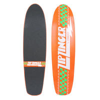 KROOKED ZIP ZINGER CLASSIC ORANGE DECK  (7.5 x 30.35inch)