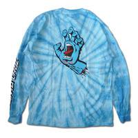 SANTA CRUZ SCREAMING HAND SPIDER BLUE L/S TEE